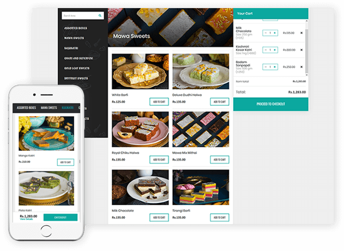 Online ordering system for restaurant